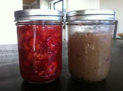Quick jam and homemade almond butter!