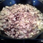 Before adding onions to crock pot and shanks, add red wine