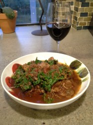 Finito! Enjoy your crock pot shanks with the rest of the red wine!