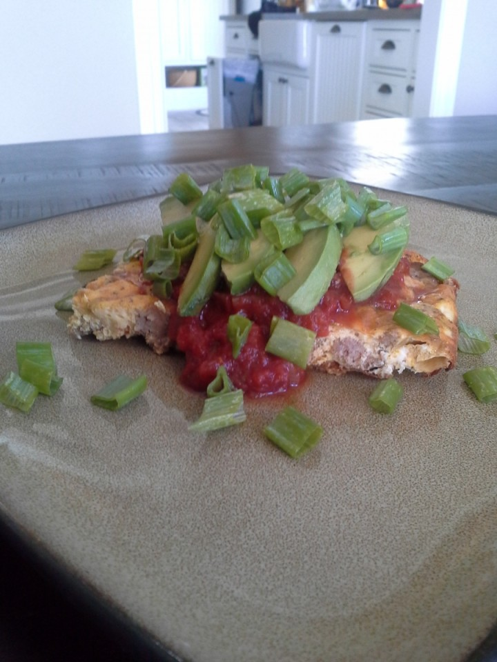 Salsa, avocado, and scallions make this egg bake a winner!