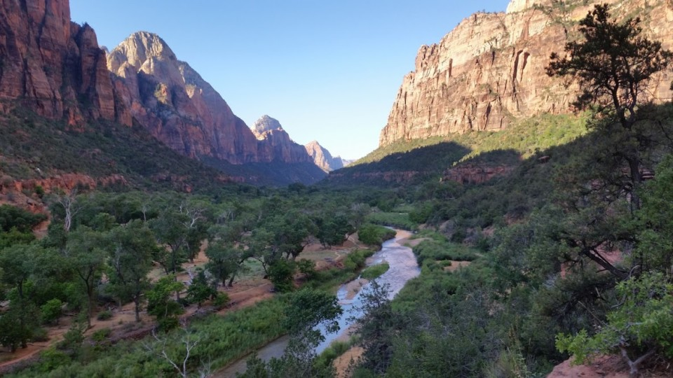 The Virgin River in Zion National Park. I ate breakfast from this spot, giving me time to reflect on pain, life, connecting