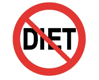 Just say no to diets and low-fat, lite, and tasteless foods!