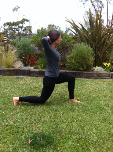 Dealing with Chronic Pain through movement - lunges with hands behind head