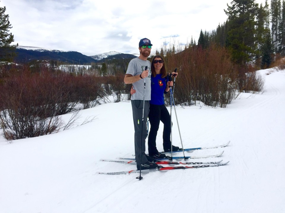 Playing in the snow with my husband after SDPain